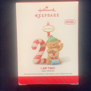 Baby's 2nd Christmas I am Two ornament 2014